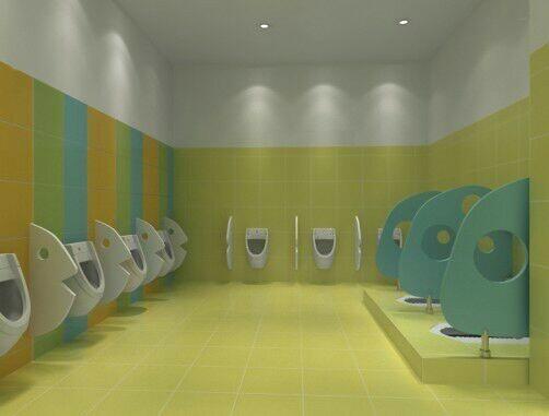 幼儿园卫生间隔断成品案例